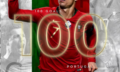 Ronaldo Becomes Second Player To Score 100 International Goals 4