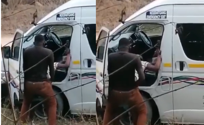 Taxi Driver Caught Having S3x With Lady By The Roadside (Video) 6