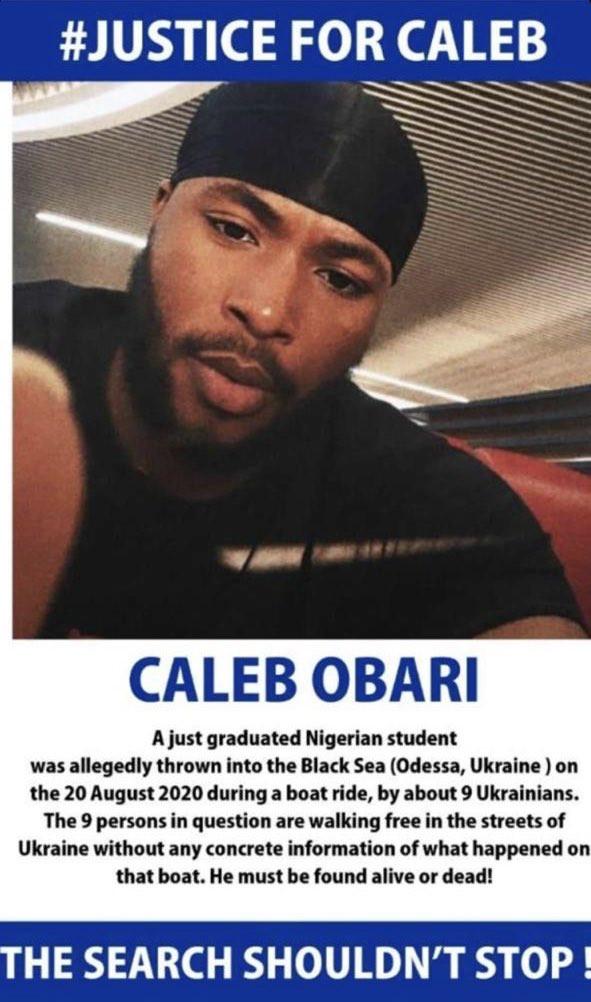 RIP! Missing Nigerian Student, Caleb Obari Found Dead In Ukraine 11