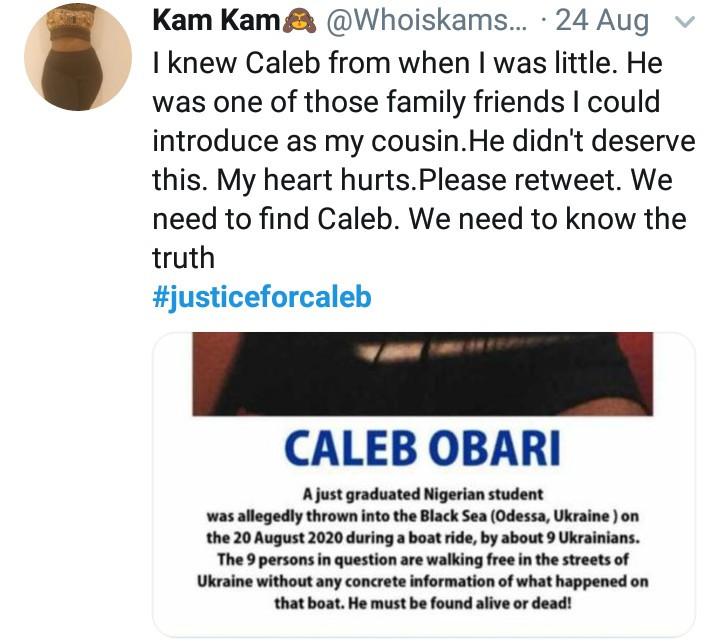 RIP! Missing Nigerian Student, Caleb Obari Found Dead In Ukraine 12