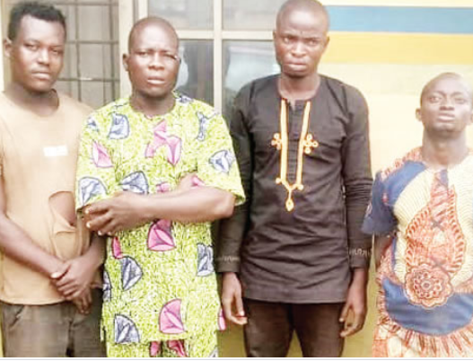 Four Men Arrested For Allegedly Beating Policeman To Death In Ogun (photo)