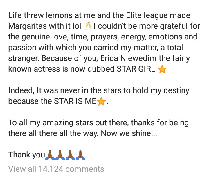 #BBNaija: Erica Writes About Her Big Brother Naija Journey And Disqualification