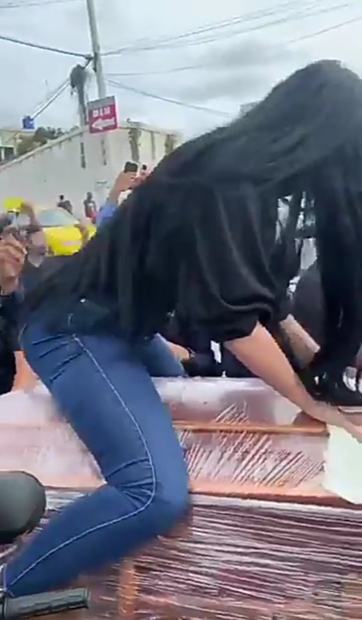 Woman Seen Twerking On Top Of A Coffin