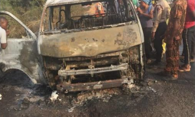 Lagos-Ibadan Expressway Accident Leaves 8 People Burnt To Death (Photos) 6