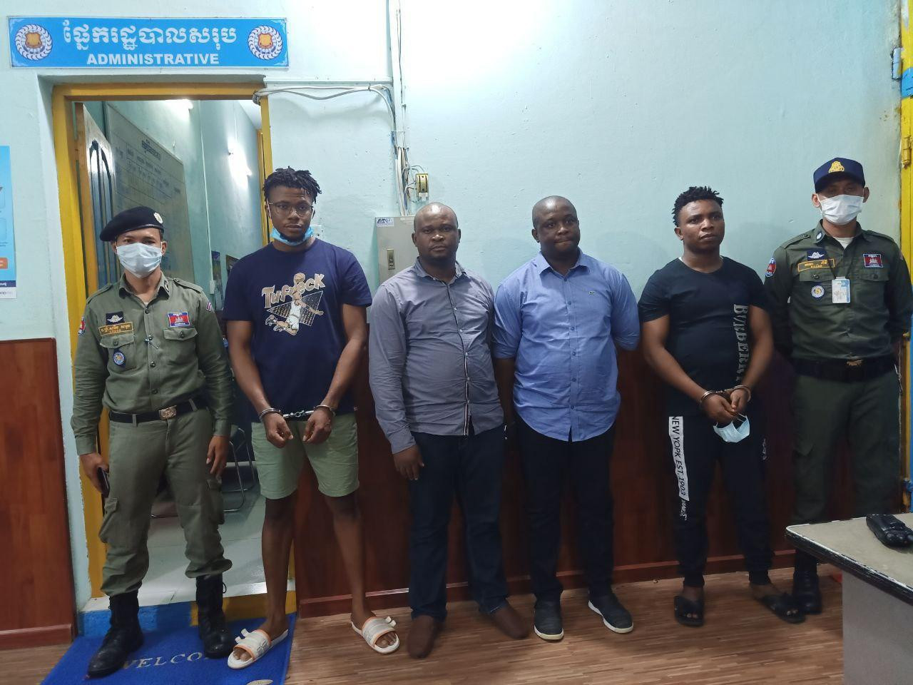 Four Nigerian Men And One Cambodian Woman Arrested Over Alleged Scam In Cambodia