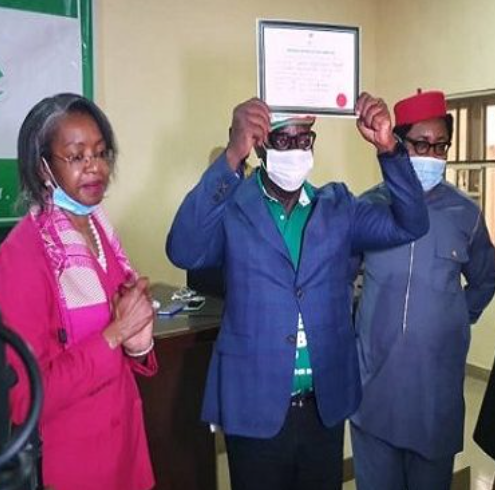 Governor Obaseki Receives Certificate Of Return From INEC