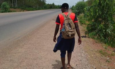 """""""Channel Your Energy Into A More Productive Activity"""" - Governor Matawalle Advises Man Trekking From Kaduna To Zamfara For Him"""