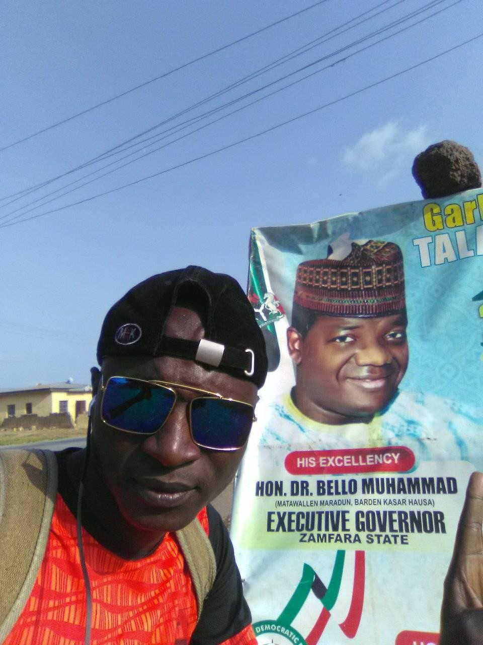 """""""Channel Your Energy Into A More Productive Activity"""" - Governor Matawalle Advises Man Trekking From Kaduna To Zamfara For Him 8"""