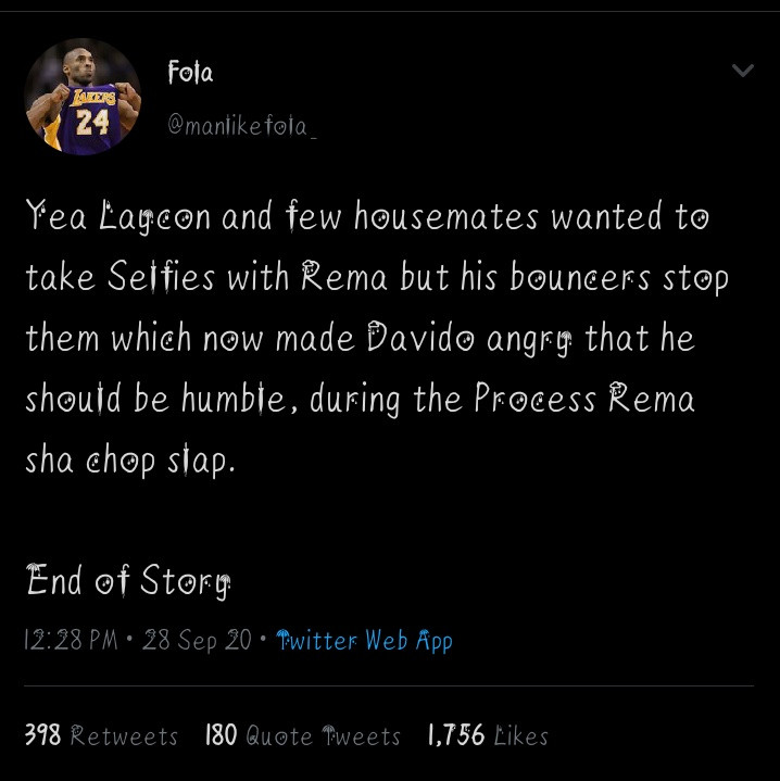 Davido Reacts To Allegation That He Slapped Rema