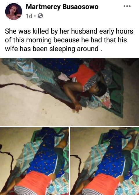 Man Kills His Wife Over Alleged Infidelity, Commits Suicide Afterwards