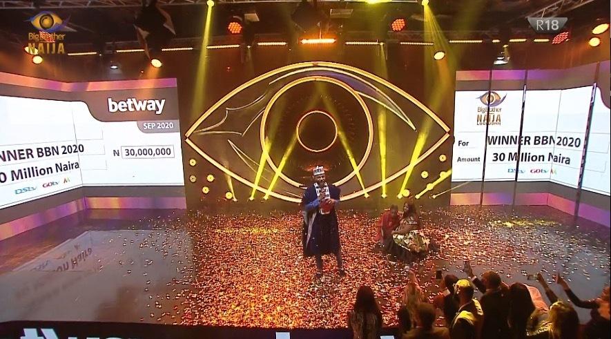 #BBNaija: Laycon Wins Big Brother Naija 2020