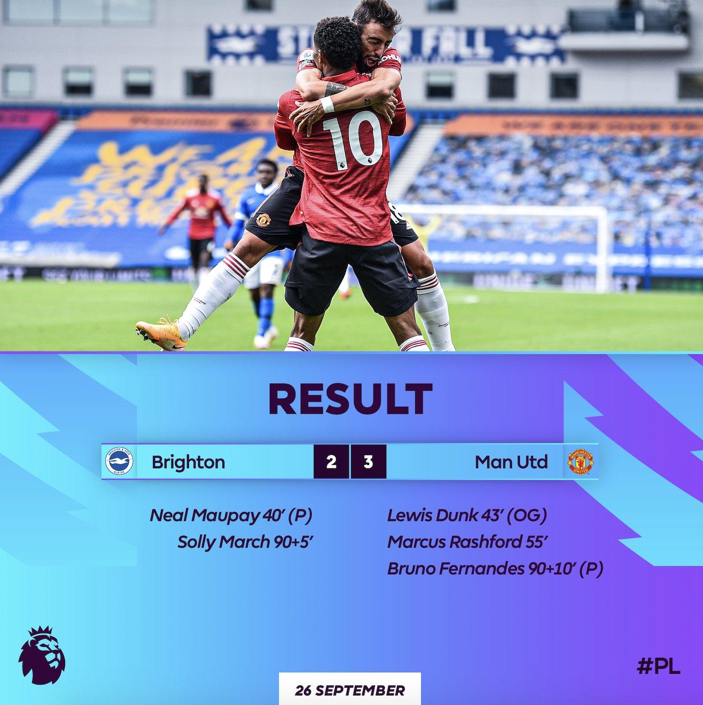 Brighton 2 - 3 Man United
