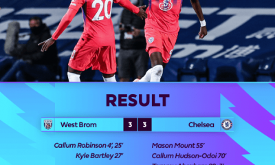 VIDEO: West Brom 3 - 3 Chelsea - 2020 EPL 3