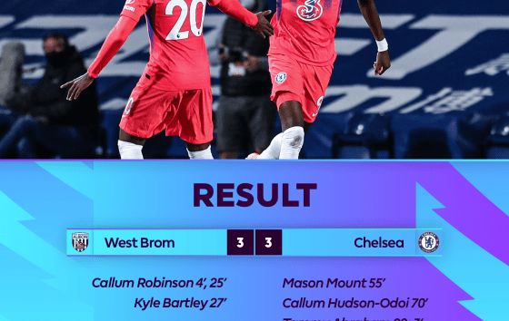 VIDEO: West Brom 3 - 3 Chelsea - 2020 EPL 2