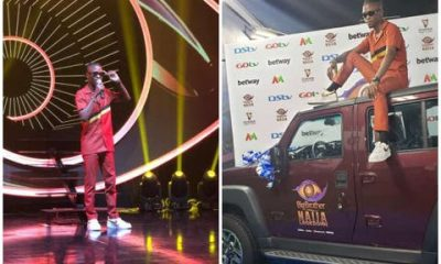 Laycon Recieves His Innoson SUV From Big Brother Naija (Video)