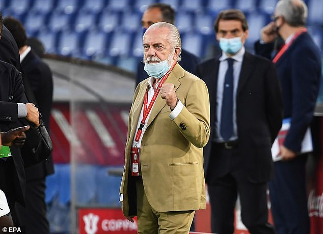 Napoli president, Aurelio De Laurentiis tests positive for COVID-19