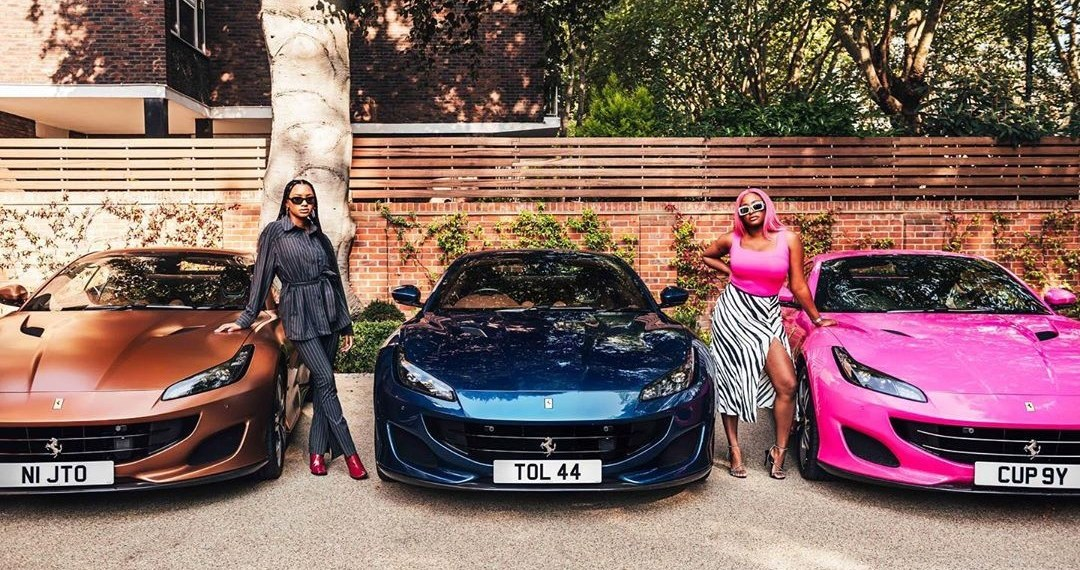 Femi Otedola Gifts His Three Daughters Ferrari (Photos)