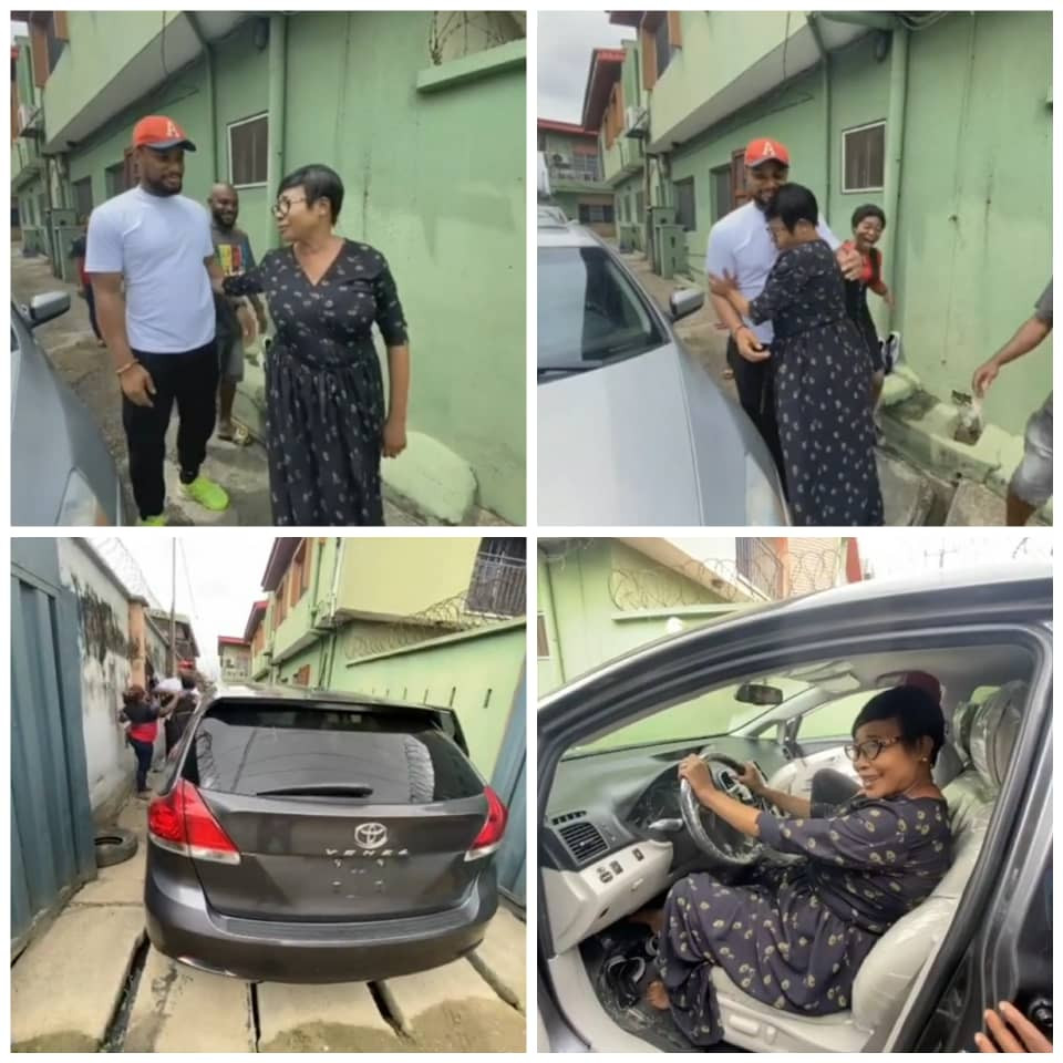 Alex Ekubo Gifts His Mother Toyota Venza (Video)