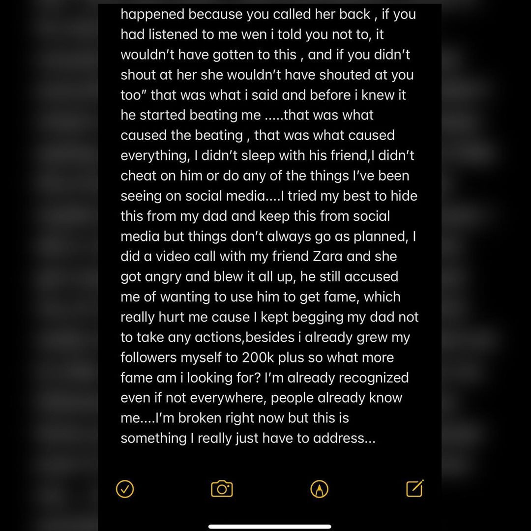 Lil Frosh's Ex-Girlfriend Breaks Her Silence Over Alleged Assault