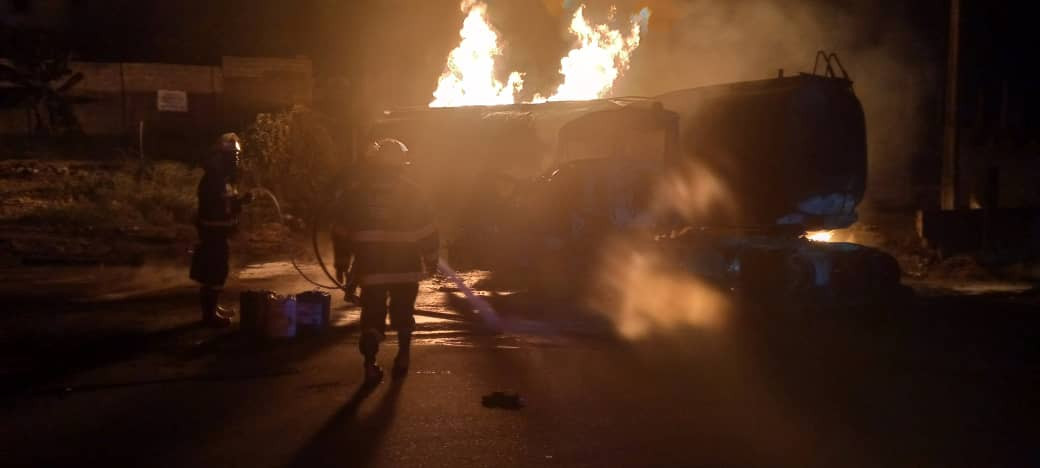 Petrol Tanker Blows Up On Otedola Bridge (Photos)