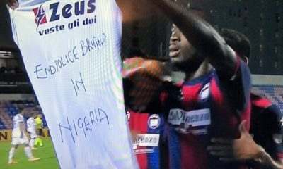 Nigerian Striker, Simeon Nwankwo Shows Support For #EndSARS Campaign After Scoring Against Juventus 1