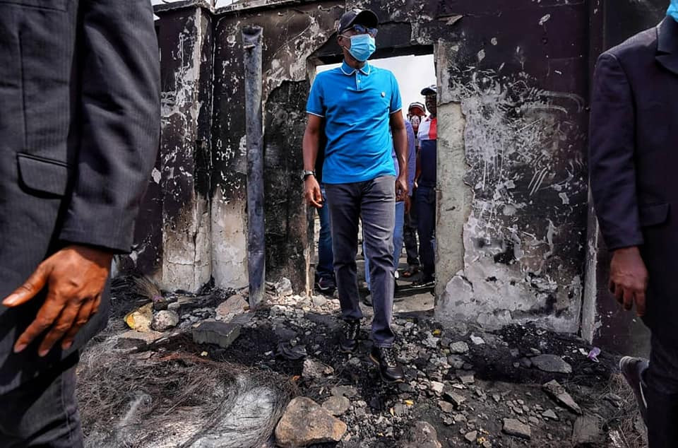 Governor Sanwo-Olu Visits Places Burnt Down In Lagos (Photos) 19