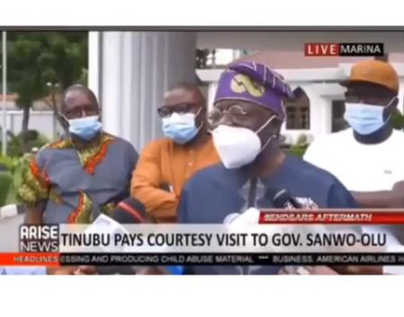 Tinubu Reacts To Lekki Toll Gate Shootings, Says He Didn't Travel (Video)