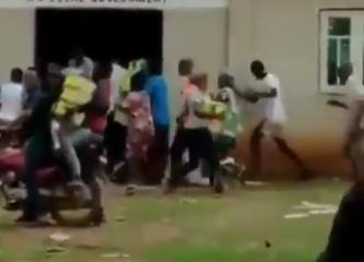 Hoodlums Loot Food Items Stored Inside A Church In Ogun (Video) 1