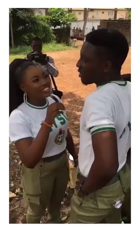 Corps Member Proposes To His Girlfriend lAfter Passing Out Parade... He Pulled A Lovely Prank On Her (Video)