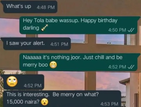 Lady Insults Her Boyfriend For Giving Her N15,000 For Birthday Celebration (Pics)