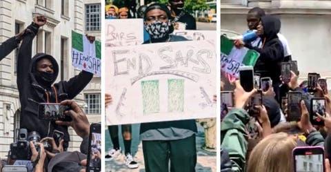 #EndSARS: Wizkid Protests Against SARS In The United Kingdom