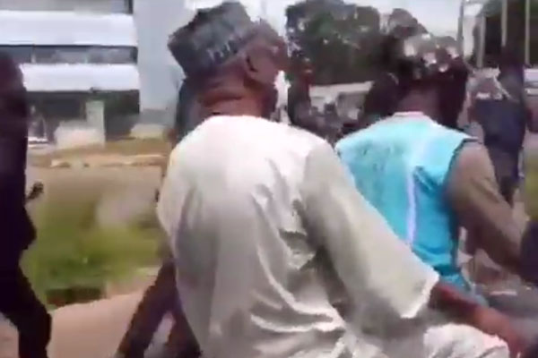 #EndSARS: Kwara State Governor Forced To Take Okada As Protesters Block Highway (Video)