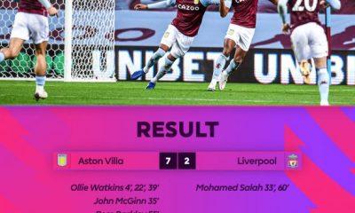 VIDEO: Aston Villa 7-2 Liverpool - 2020 EPL 6