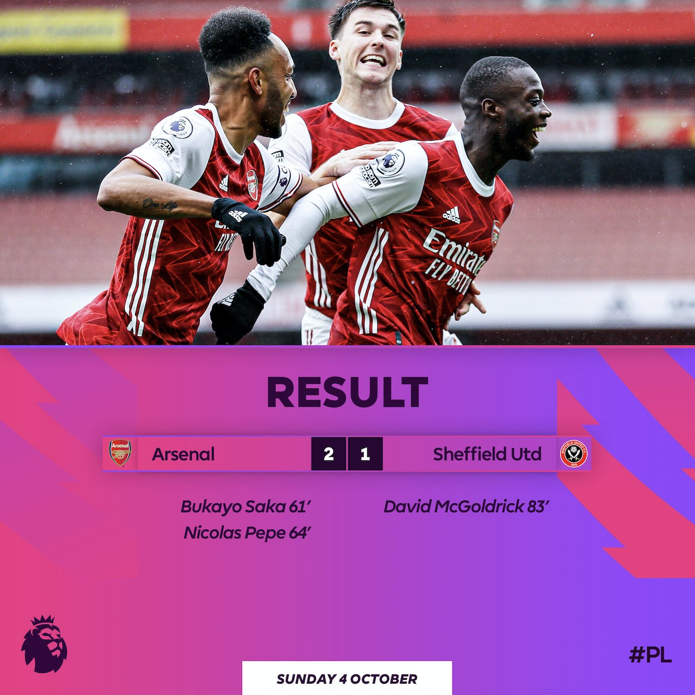 Arsenal 2 - 1 Sheffield United Highlight Mp4 Download