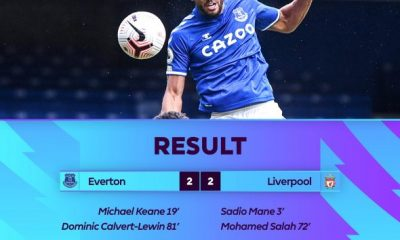 VIDEO: Everton 2 - 2 Liverpool - 2020 EPL Highlight 8