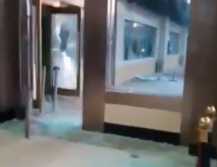 Oriental Hotel Partly Destroyed By Hoodlums (Video)
