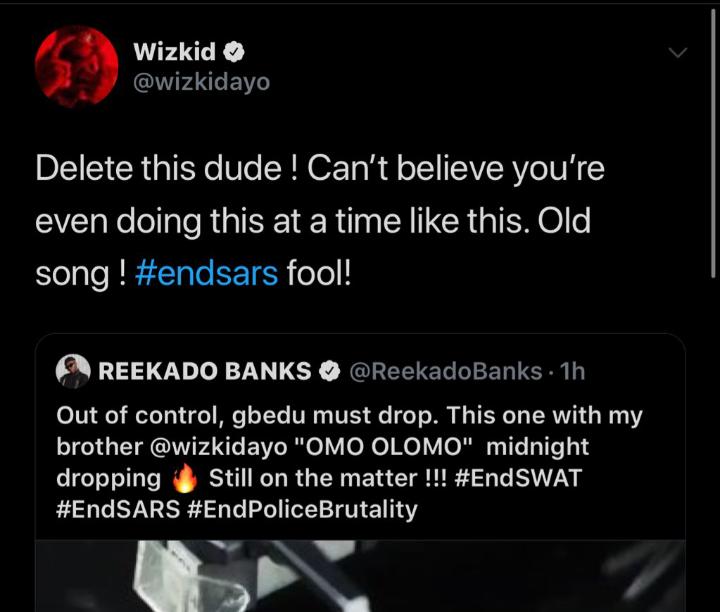 """Clout Animal, Fool"" - Wizkid Slams Reekado Banks (See What He Did) 14"