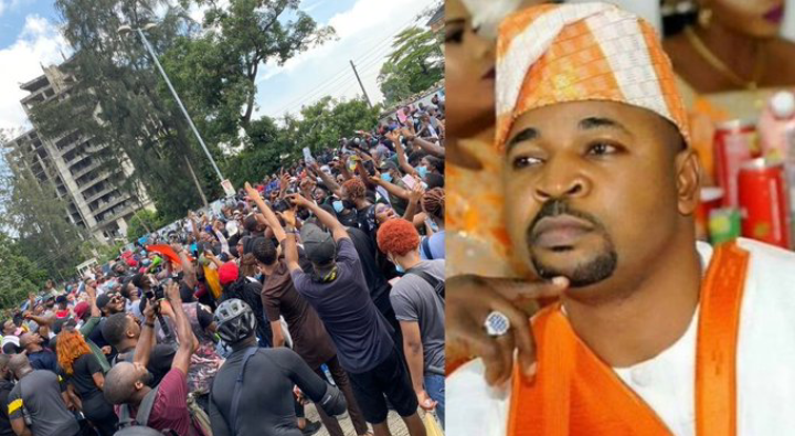 Protesters Reject Food And Drinks From MC Oluomo
