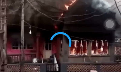 #EndSARS: Angry Youths Burn Down Sanwo-Olu's Family House In Lagos (Video) 3