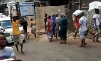 Warehouse Where Coronavirus Palliatives Were Hidden Busted By Lagos Youths (Video)