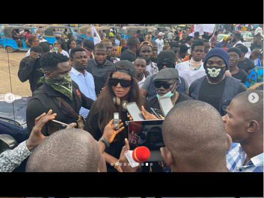 Angela Okorie, Other Ebonyians Protest Against Police Brutality (Photos)