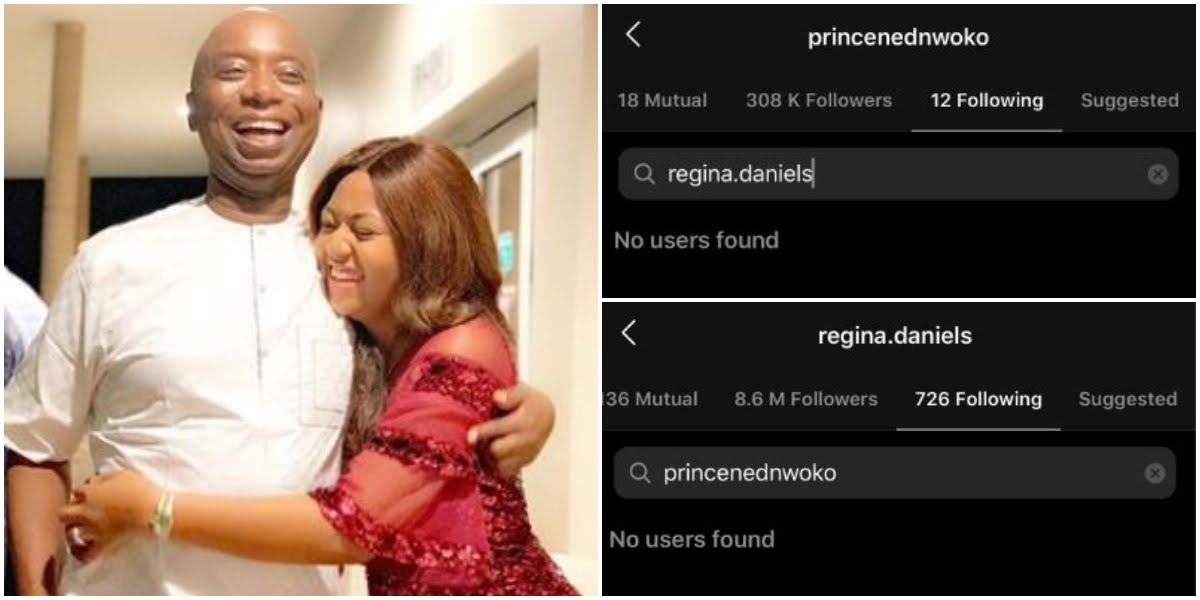 Regina Daniels And Husband, Ned Nwoko Allegedly Unfollow Each Other On Instagram