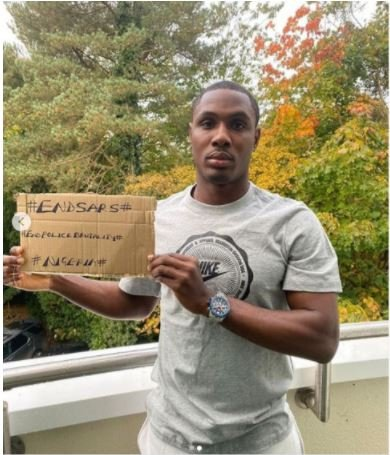 #EndSARS: Odion Ighalo Joins Protest Against SARS